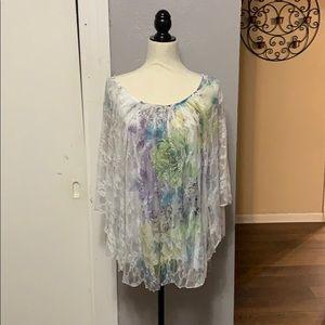Dress Barn Lace Tunic Top